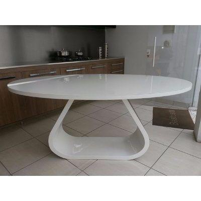 Mesa De Jantar Oval Curve, Design 1,82 X 1,10 Laca, Madeira - R$ 2.990,00 no MercadoLivre