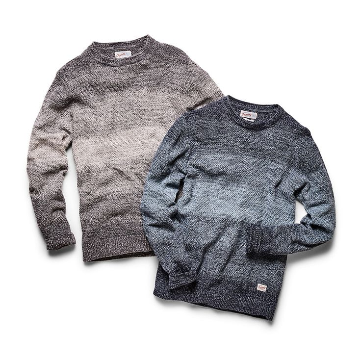 Easy to wear colour block knits. Available in beige tones and in blue tones | JACK & JONES