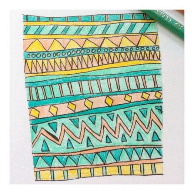 We always together, doesn't mean we are friends. -whatevah- #tribal #pattern #sketch