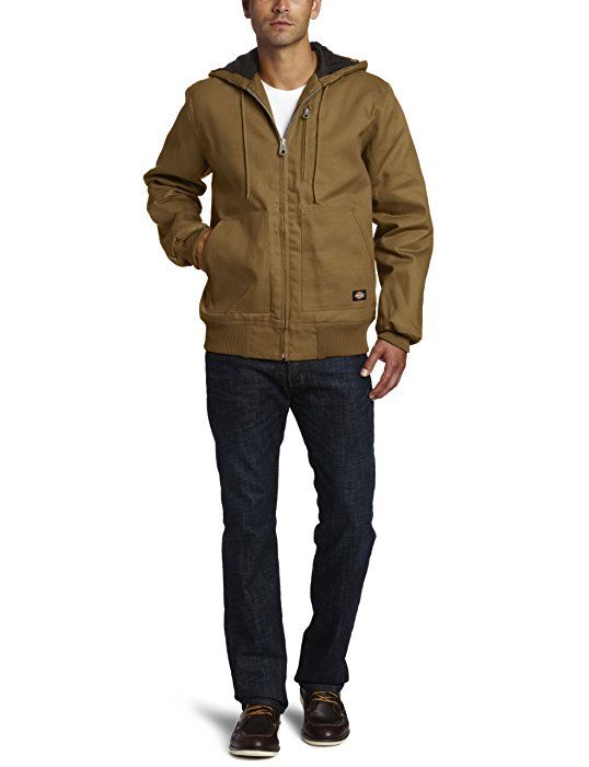 Dickies Men's Big-Tall Rigid Duck Hooded Jacket, Brown Duck, 4X: Amazon.ca: Clothing & Accessories