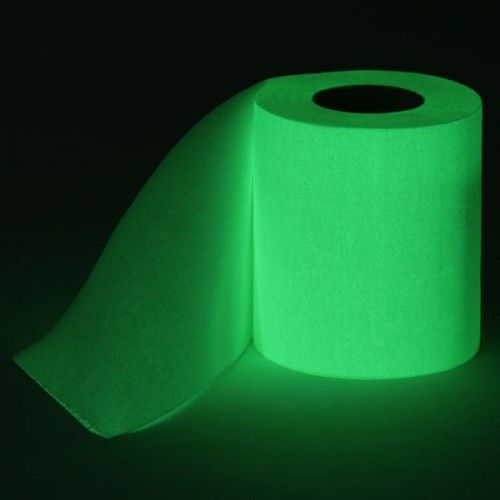 glow in the dark toilet paper- that is pretty cool!  No more struggling to find the TP in the dark :)