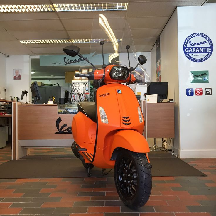 Vespa Sprint Mat Orange | Perry Scooters