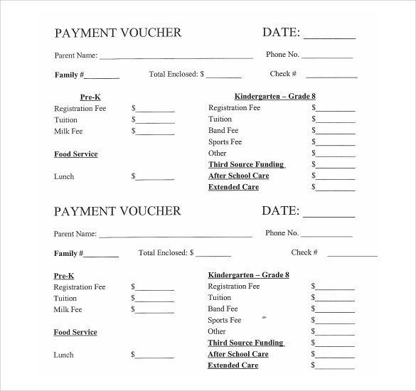 Voucher Template 6461 Receipt Template Templates Voucher Sample