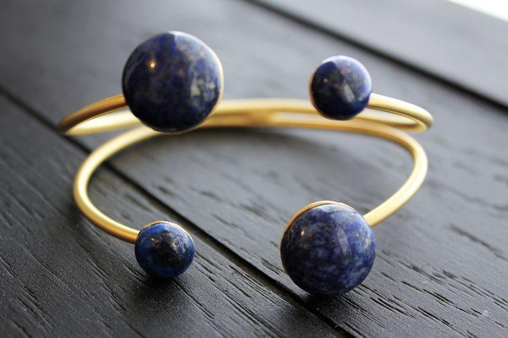 Lapis Lazuli Bracelet Lapis Cuff Bracelet Gold Cuff Bracelet Boho Bracelet Boho Jewelry Ancient Bracelet Galaxy Bracelet Planet Bracelet