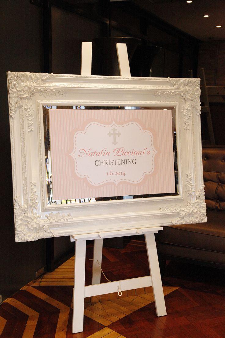 Custom Frame courtesy of The Wedding Company by Jessica Nohra