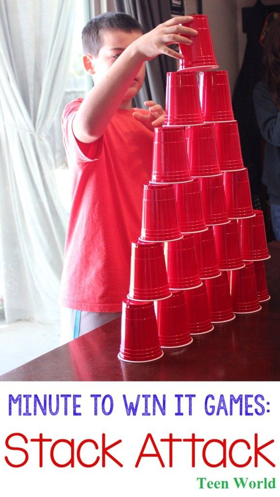 Stack Attack This is the interesting game to the audience. To play this game you need 36 plastic cups. Two players can play this game. Keep the cups on the table step by step and make a like pyramid. After completing this pyramid you must close that as well the first time. That can do it in 60 seconds win the game.
