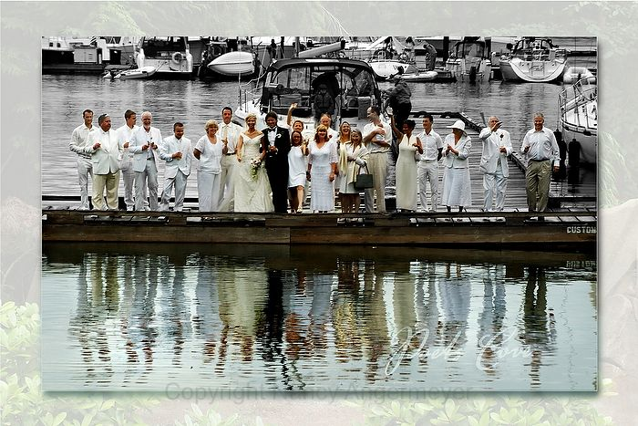 Wedding party poets cove resort and spa, pender island, british columbia www.nancyangermeyer.com