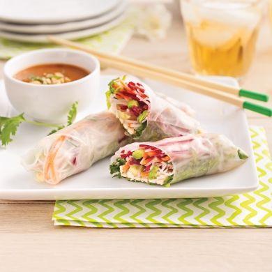 Rouleaux de printemps au tofu mariné - Entrées et soupes - Recettes 5-15 - Recettes express 5/15 - Pratico Pratique