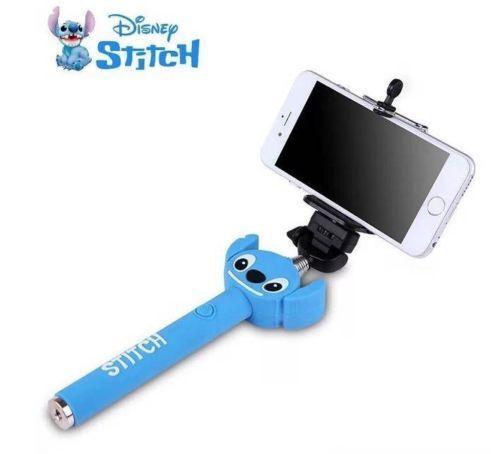 disney stitch selfie stick handheld telescopic monopod clip for mobile camera. Black Bedroom Furniture Sets. Home Design Ideas