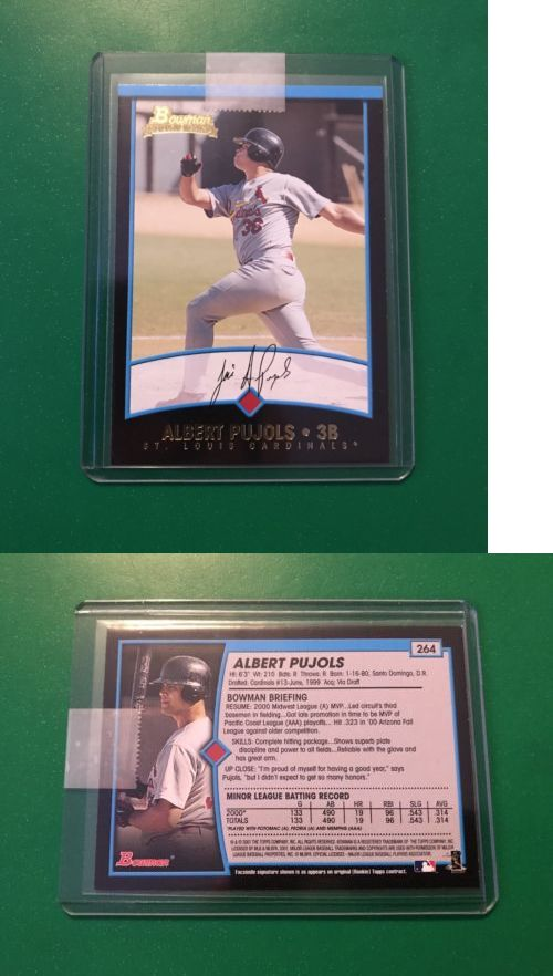 Baseball Cards 213: 2001 Bowman Albert Pujols #264 Gold Rookie Card Hof! Mint! -> BUY IT NOW ONLY: $33 on eBay!