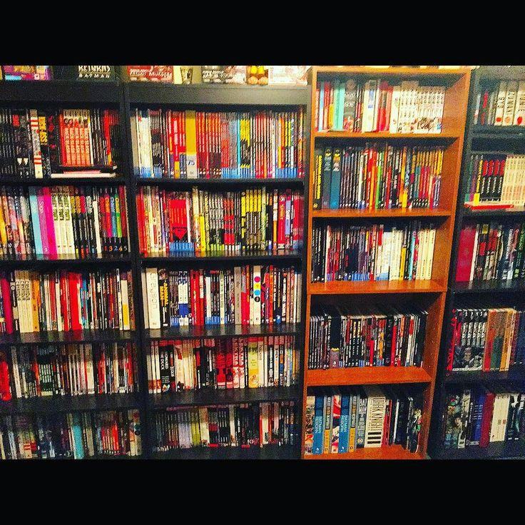 FINALLY all my books in one place!  #dc #gamer #batman #joker #marvel #superman #thewalkingdead #pokemon #comics #comicbooks #disney #videogames #starwars #disneypins #dccomics #marvelcomics #comiccollection #pokemongo #arrow #deadpool #finalfantasy #nerd #geek #funkopop #funko #nintendo #wwe #spiderman #popvinyl #pop