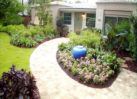 Why Not Using A Pop Of Color For That Jar Water Fountain! Home LandscapingFront  Yard ...