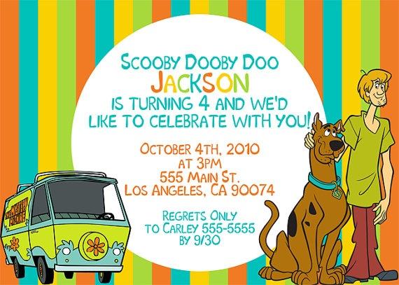 119 best tema - scooby doo ❤ images on pinterest   scooby doo, Birthday invitations