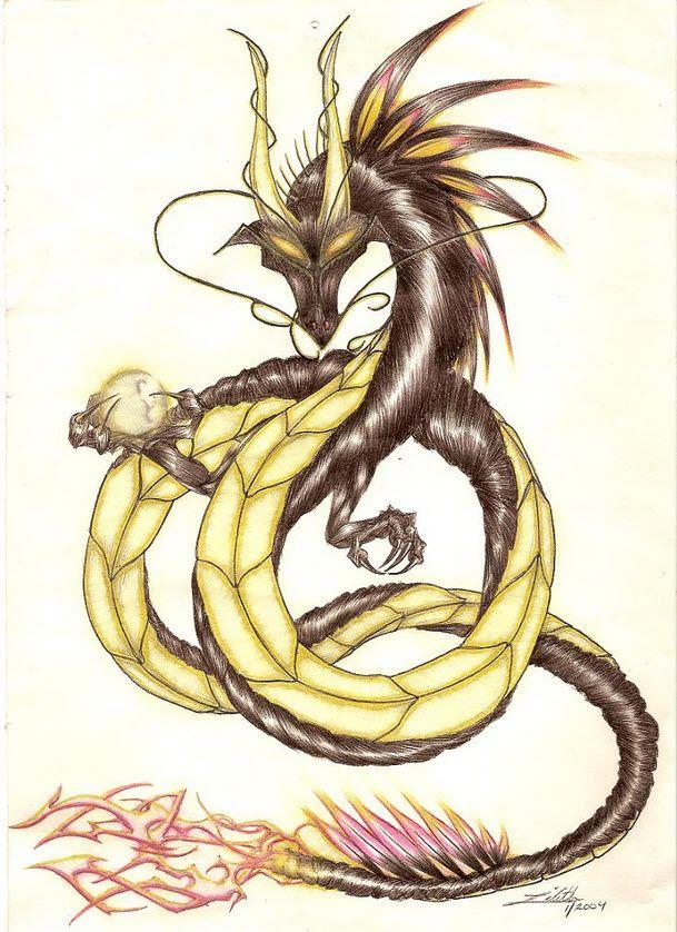 Lindworm Dragon: Omega-Primate - Black Drake