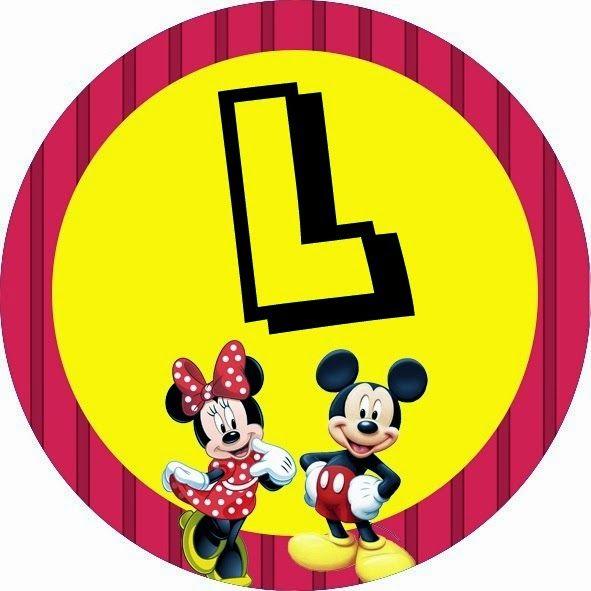 Alfabeto de Minnie y Mickey especial para Fiestas.   Oh my Alfabetos!