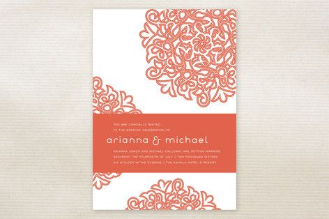 Mehndi inspired Wedding Invitations by guess what? at minted.com