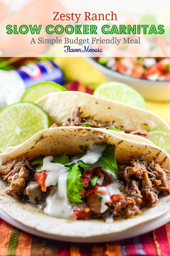 Easy Budget Friendly Spring Decorating: Zesty Ranch Slow Cooker Carnitas