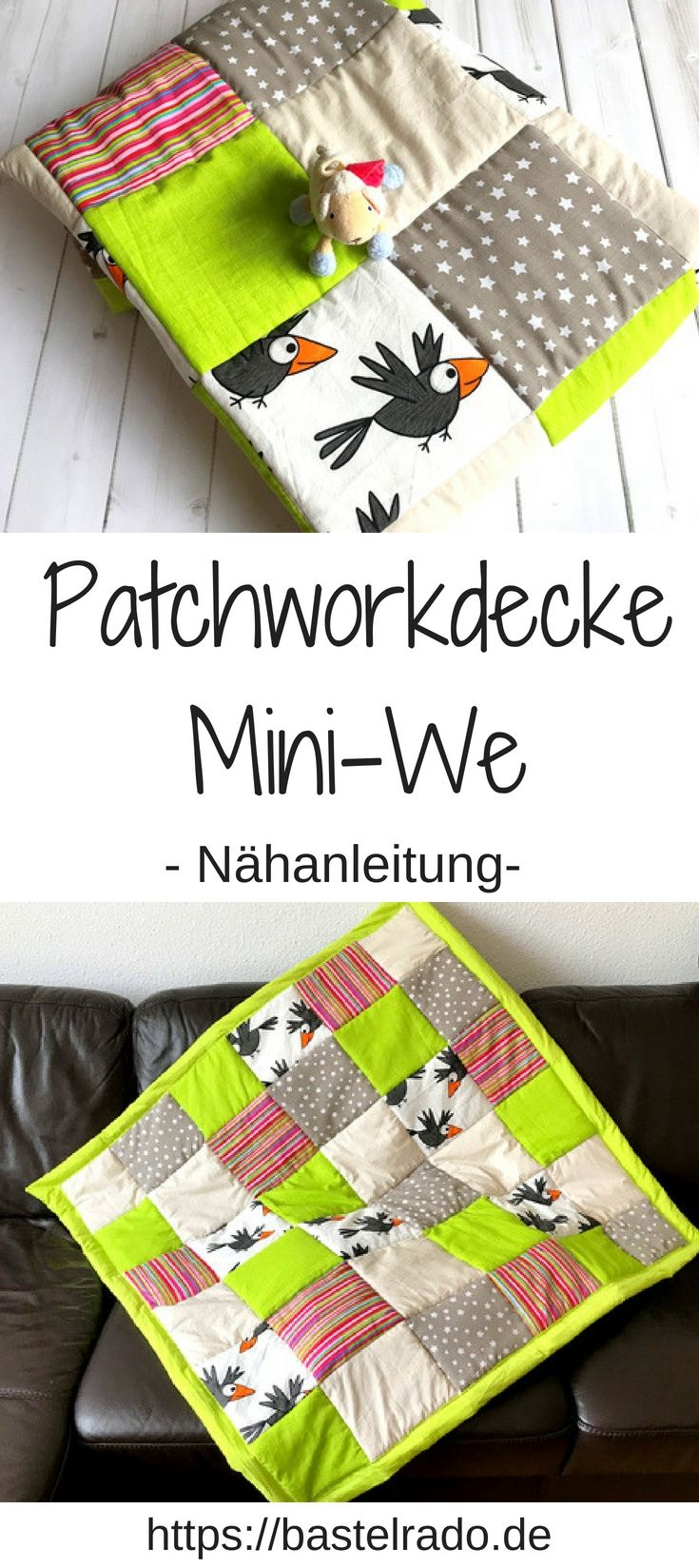 Just sew a patchwork blanket yourself? I'll show you how it works!   – Bastelrado – DIY Blog