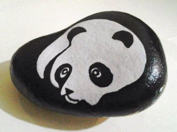 panda bear by PAINTINGSTONE on Etsy
