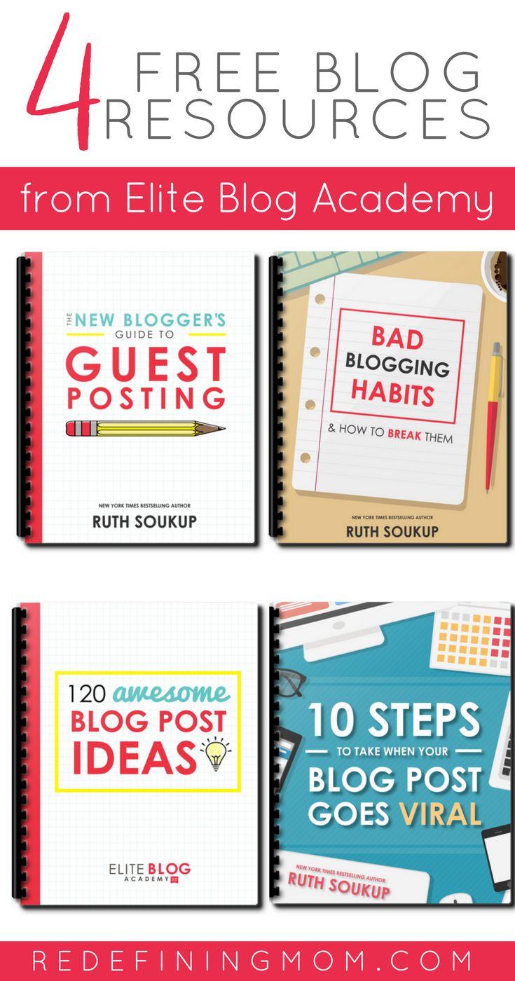 4 Free Blog Resources from the best blogging course, Elite Blog Academy. Blogging tips   blogging for beginners   #blog #blogging #bloggingtips #eliteblogacademy