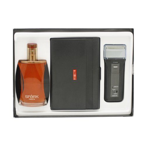 Liz Claiborne Spark Gift Set (Cologne Spray, Range 2000 Recharge Shaver, Travel Case and Cleaning Brush) by Liz Claiborne. Save 49 Off!. $33.07. We offer many great sales and discounts making this fragrance cheaper than at department stores.. All our fragrances are 100% originals by their original designers. We do not sell any knockoffs or immitations.. Gift Set ( Cologne Spray 3.3 Oz + Range 2000 Rechargeable Shaver + Travel Case & Cleaning Brush ) for Men. Packaging for this product ma...