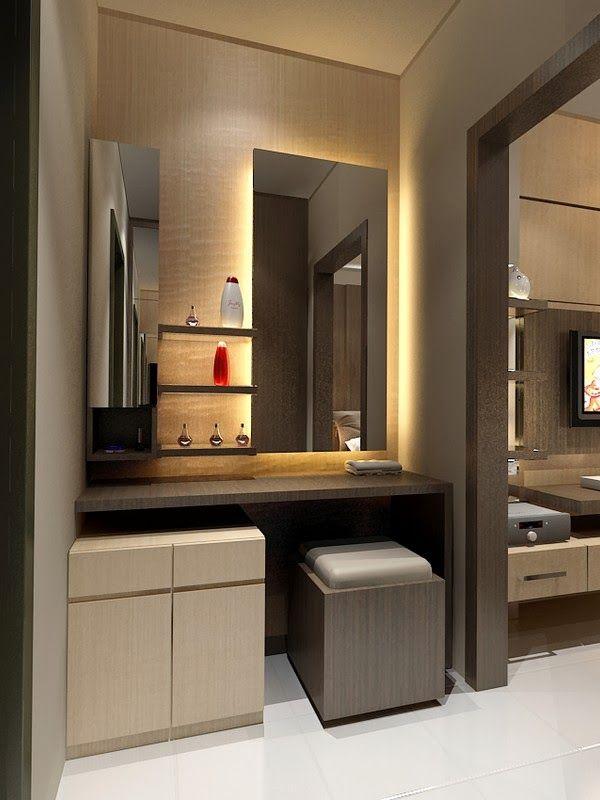 Gambar desain furniture meja rias minimalis gambar 7848 for Interior design bedroom dressing table