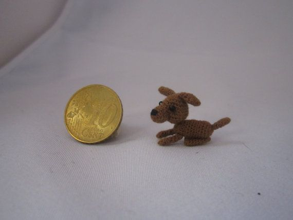 Crochet little dog van MiniMadeCraft op Etsy