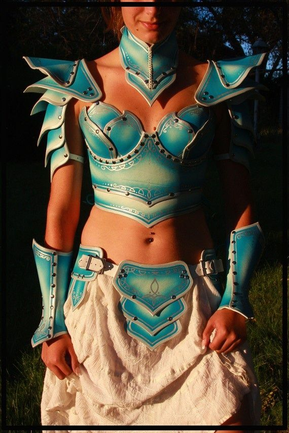 how to make foam demon armour | You can make foam armour out of old foamy placemats. | Costume