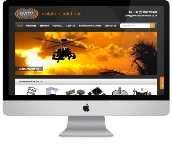 AVMR needed to display products in a consistent, professional and organised layout and wanted the ability to update their site on a regular basis.