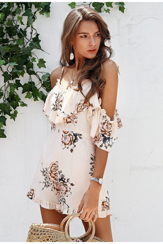 8bf076327aa9 Women s Deep V-Neck Floral Romper in 2018
