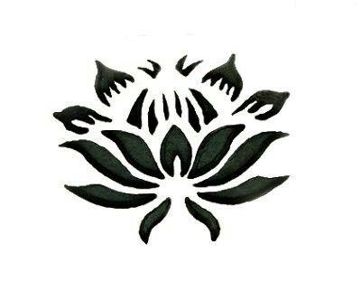 Black King Protea Flower Stencil