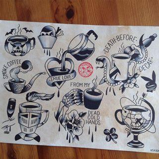 coffee tattoo                                                                                                                                                      More