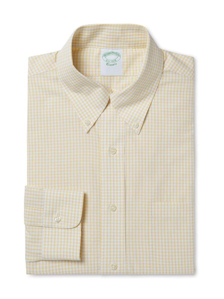 Brooks Brothers — Broadcloth Tattersal Dress Shirt on daiiily.com (until 03/22/2015 on Gilt)