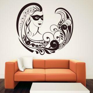 Наклейка для дома от 2stick.ru Удивительная лесная фея в маске
