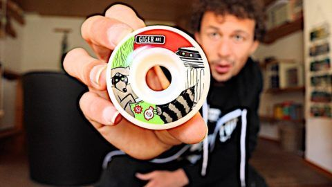 MY FIRST PRO WHEEL!: You can buy this at: http://www.theshredquarters.com/jonny-giger-racoon-52mm/ MY… #Skateswitzerland #First #Wheel