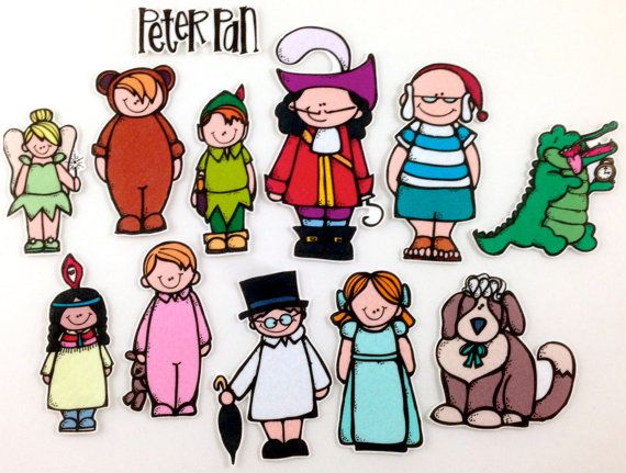 Peter Pan Felt Board Story Set byMaree on Etsy, $20.00