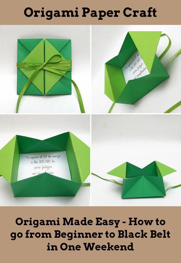 Origami Hinged Prism Gift Box Diagram   Origami box easy, Origami ...   876x604