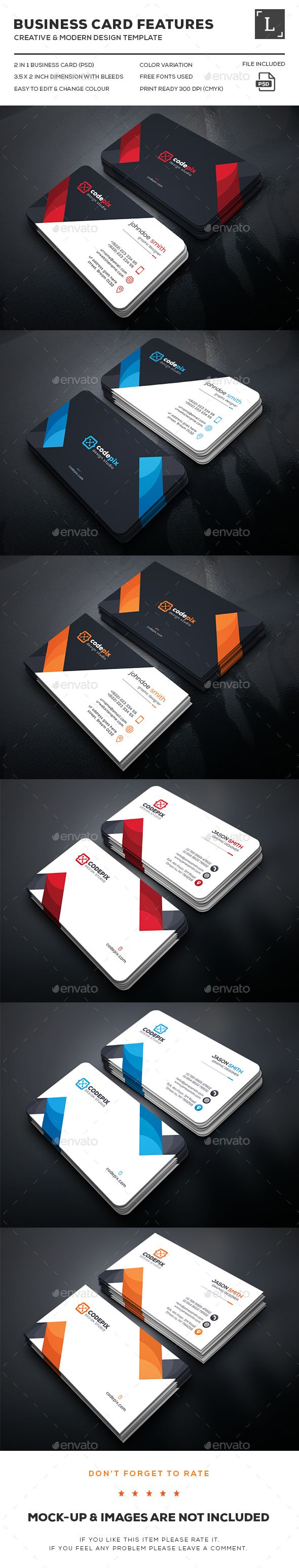 Business Card Bundle Templates PSD. Download here: http://graphicriver.net/item/business-card-bundle/16278061?ref=ksioks