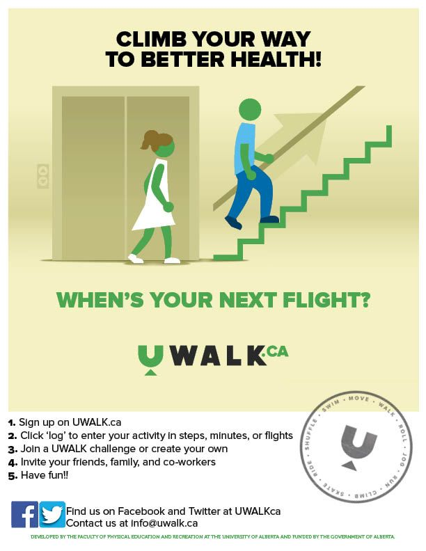 CLIMB YOUR WAY TO BETTER HEALTH Print Off Poster As A Reminder Of The Health