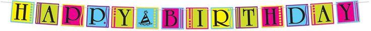 Happy Birthday Streamer #83545 - 12 Units