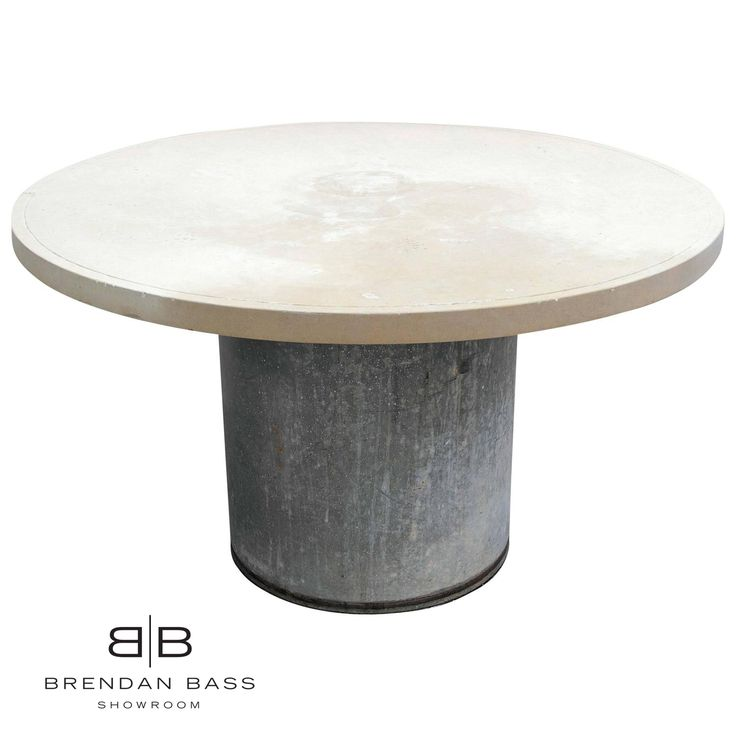 Industrial Round Outdoor Table