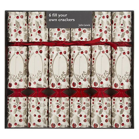 199 best christmas crackers images on pinterest christmas cookies buy john lewis fill your own holly berry christmas crackers set of 6 online at solutioingenieria Gallery