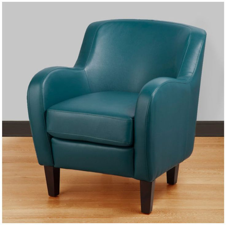 280 Turquoise Tub Chair Bonded Leather Seat Modern