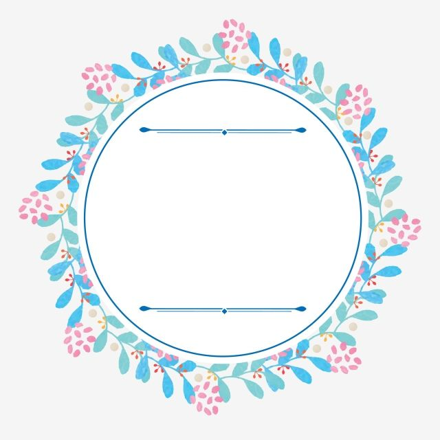 Hand Drawn Wind Floral Label Element Art Pattern Round Sticker Png And Vector With Transparent Background For Free Download How To Draw Hands Floral Wreath Watercolor Floral