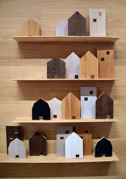 Tarketts monter, med deras golv presenterade som små hus, på Stockholm Furniture Fair 2016 | www.var-dags-rum.se