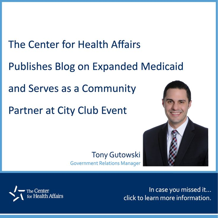 The Center for Health Affairs Publishes Blog on Expanded