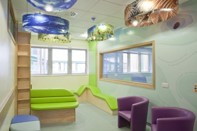 Waiting room furniture with sea graphic light features for Kids waiting room furniture