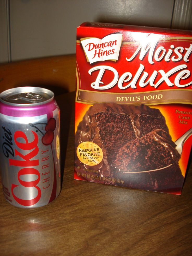 diet coke cake--just a reminder or new idea to some that you can cut eggs and oil from box cake and instead add the carbonated soda of your choice!!! It makes an easy delicious cake. I just did white with Ginger Ale. --Jamie :)