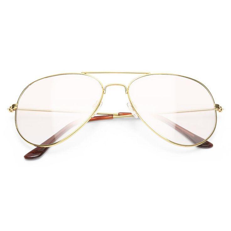 Clear Aviator Glasses | Women's, Men's & Unisex Non-Prescription Clear Aviator Glasses | BleuDame.com