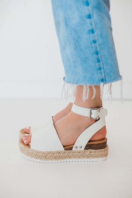 1c5bd230085 Off White Espadrille Platform Flat Sandal- Feed The Addiction - Forever  Young Shoes Shop now from Utah s favorite Womens shoe store!